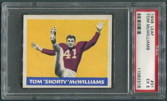 1948 Leaf Football #31 Tom McWilliams Rookie Maroon Jersey PSA 5 (EX)