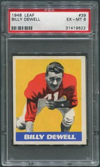 1948 Leaf Football #39 Billy Dewell Rookie PSA 6 (EX-MT)