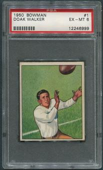 1950 Bowman Football #1 Doak Walker PSA 6 (EX-MT)