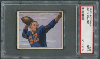 1950 Bowman Football #26 Johnny Lujack PSA 7 (NM)