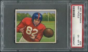 1950 Bowman Football #32 Ray Poole PSA 6 (EX-MT)
