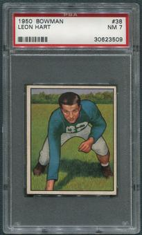 1950 Bowman Football #38 Leon Hart PSA 7 (NM)