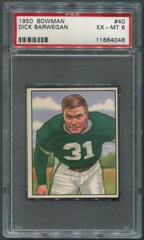 1950 Bowman Football #40 Dick Barwegan Rookie PSA 6 (EX-MT)