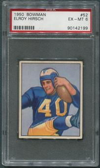 1950 Bowman Football #52 Elroy Hirsch Rookie PSA 6 (EX-MT)