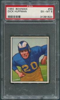1950 Bowman Football #53 Dick Huffman Rookie PSA 6 (EX-MT)