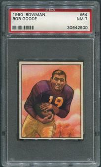 1950 Bowman Football #64 Bob Goode Rookie PSA 7 (NM)