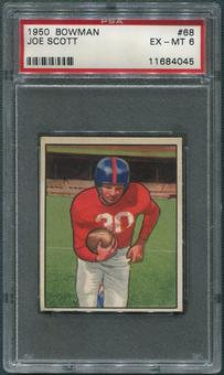 1950 Bowman Football #68 Joe Scott PSA 6 (EX-MT)