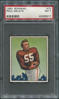 1950 Bowman Football #70 Paul Salata Rookie PSA 7 (NM)