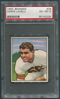 1950 Bowman Football #78 Dante Lavelli Rookie PSA 6 (EX-MT)