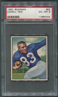 1950 Bowman Football #83 Lowell Tew Rookie PSA 6 (EX-MT)