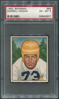 1950 Bowman Football #89 Darrell Hogan Rookie PSA 6 (EX-MT)