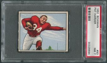 1950 Bowman Football #93 Pat Harder PSA 7 (NM)