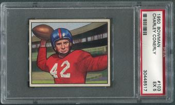 1950 Bowman Football #103 Charley Conerly PSA 5 (EX)