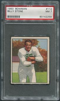 1950 Bowman Football #112 Billy Stone Rookie PSA 7 (NM)
