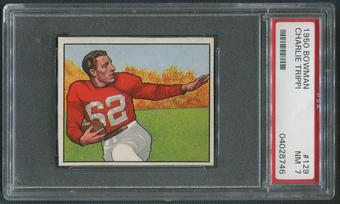 1950 Bowman Football #129 Charley Trippi PSA 7 (NM)