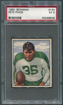 1950 Bowman Football #134 Pete Pihos PSA 5 (EX)