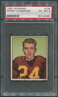 1950 Bowman Football #138 Howie Livingston Rookie PSA 6 (EX-MT)