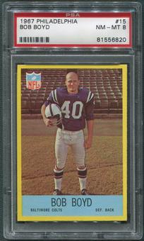 1967 Philadelphia Football #15 Bob Boyd PSA 8 (NM-MT)