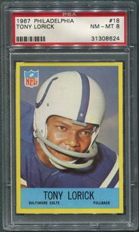 1967 Philadelphia Football #18 Tony Lorick PSA 8 (NM-MT)