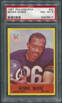 1967 Philadelphia Football #32 Bennie McRae PSA 8 (NM-MT)