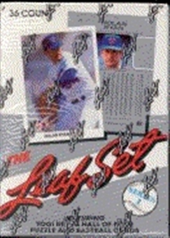 1990 Leaf Series 1 Baseball Wax Box