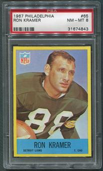 1967 Philadelphia Football #65 Ron Kramer PSA 8 (NM-MT)