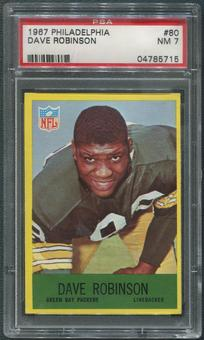 1967 Philadelphia Football #80 Dave Robinson Rookie PSA 7 (NM)
