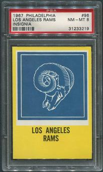 1967 Philadelphia Football #96 Los Angeles Rams PSA 8 (NM-MT)