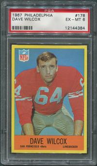 1967 Philadelphia Football #178 Dave Wilcox PSA 6 (EX-MT)