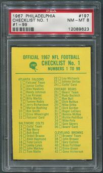 1967 Philadelphia Football #197 Checklist 1 #1 to #99 PSA 8 (NM-MT)