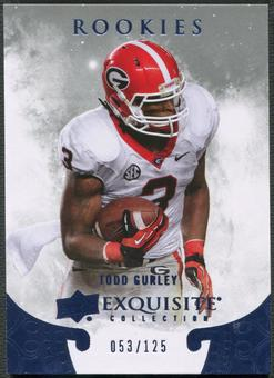 2014 Exquisite Collection #ERTG Todd Gurley Draft Picks Rookie #053/125