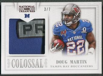 2013 Panini National Treasures #13 Doug Martin Colossal Pro Bowl Prime Patch Trophy Logo #3/7