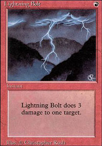 Magic the Gathering 3rd Ed (Revised) Single Lightning Bolt - SLIGHT PLAY (SP)