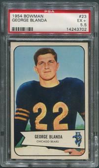 1954 Bowman Football #23 George Blanda Rookie PSA 5.5 (EX+)