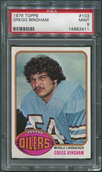 1976 Topps Football #103 Gregg Bingham Rookie PSA 9 (MINT)