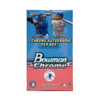 2016 Bowman Chrome Baseball HTA Vending 12-Box Case- DACW Live 30 Spot Random Team Break #3