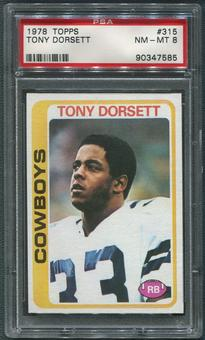 1978 Topps Football #315 Tony Dorsett Rookie PSA 8 (NM-MT)