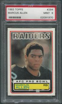 1983 Topps Football #294 Marcus Allen Rookie PSA 9 (MINT)