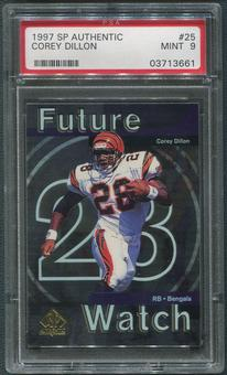 1997 SP Authentic Football #25 Corey Dillon Rookie PSA 9 (MINT)