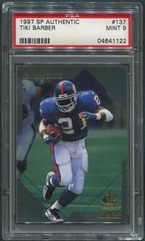 1997 SP Authentic Football #137 Tiki Barber Rookie PSA 9 (MINT)