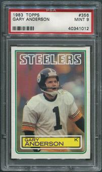 1983 Topps Football #356 Gary Anderson Rookie PSA 9 (MINT)