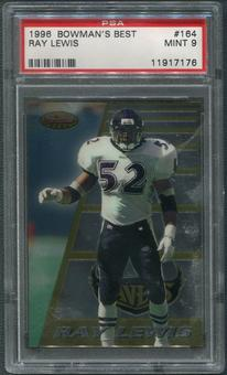 1996 Bowman's Best Football #164 Ray Lewis Rookie PSA 9 (MINT)