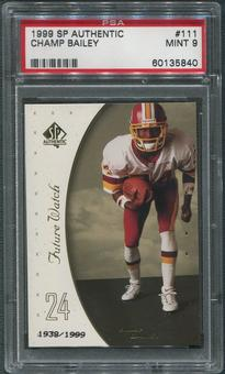1999 SP Authentic Football #111 Champ Bailey Rookie PSA 9 (MINT)