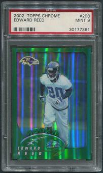 2002 Topps Chrome Football #208 Ed Reed Rookie PSA 9 (MINT)