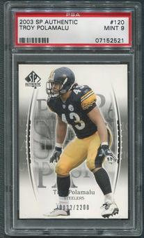 2003 SP Authentic Football #120 Troy Polamalu Rookie PSA 9 (MINT)