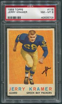 1959 Topps Football #116 Jerry Kramer Rookie PSA 8 (NM-MT)