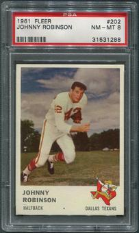 1961 Fleer Football #202 Johnny Robinson Rookie PSA 8 (NM-MT)