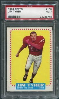 1964 Topps Football #108 Jim Tyrer Rookie PSA 7 (NM)