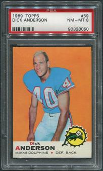 1969 Topps Football #59 Dick Anderson Rookie PSA 8 (NM-MT)