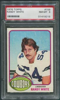 1976 Topps Football #158 Randy White Rookie PSA 8 (NM-MT)
